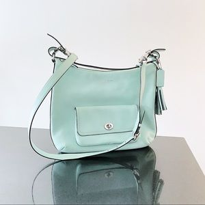 Mint Green Coach legacy hobo crossbody